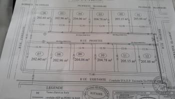 Vent terrain de 206m 3 façades a BELGAID
